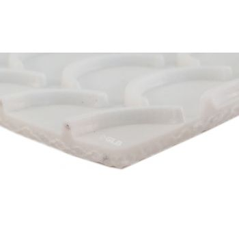 PVC 120 White - Crescent Top Conveyor Belt - 1 ply