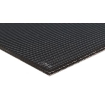 E-Line 2-Ply Black PVC Groovy Grip Top FR Conveyor Belt