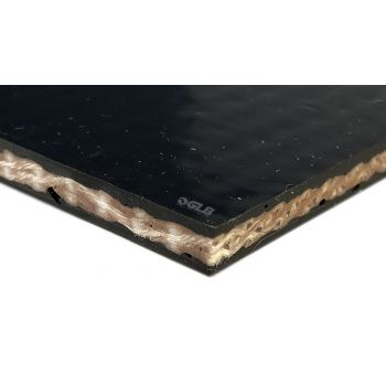 PVGE 150S1 - Black Cover x Cover Conveyor Belt - 1 ply