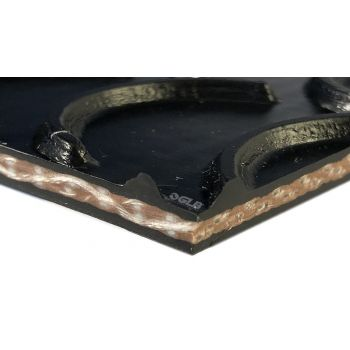 PVGE 150S1 - Black Crescent x Cover - Conveyor Belt - 1 ply
