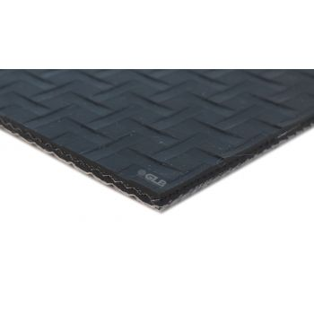 Dark Gray PVC Lattice Top Conveyor Belt