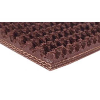 3-Ply Brown Nitrile Rough Top Conveyor Belt