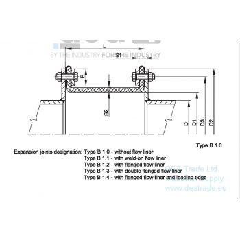 Fabric expansion joint scheme - type B
