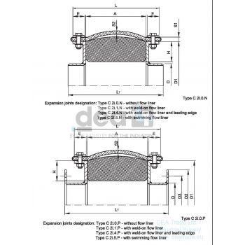 Fabric expansion joint scheme - type C