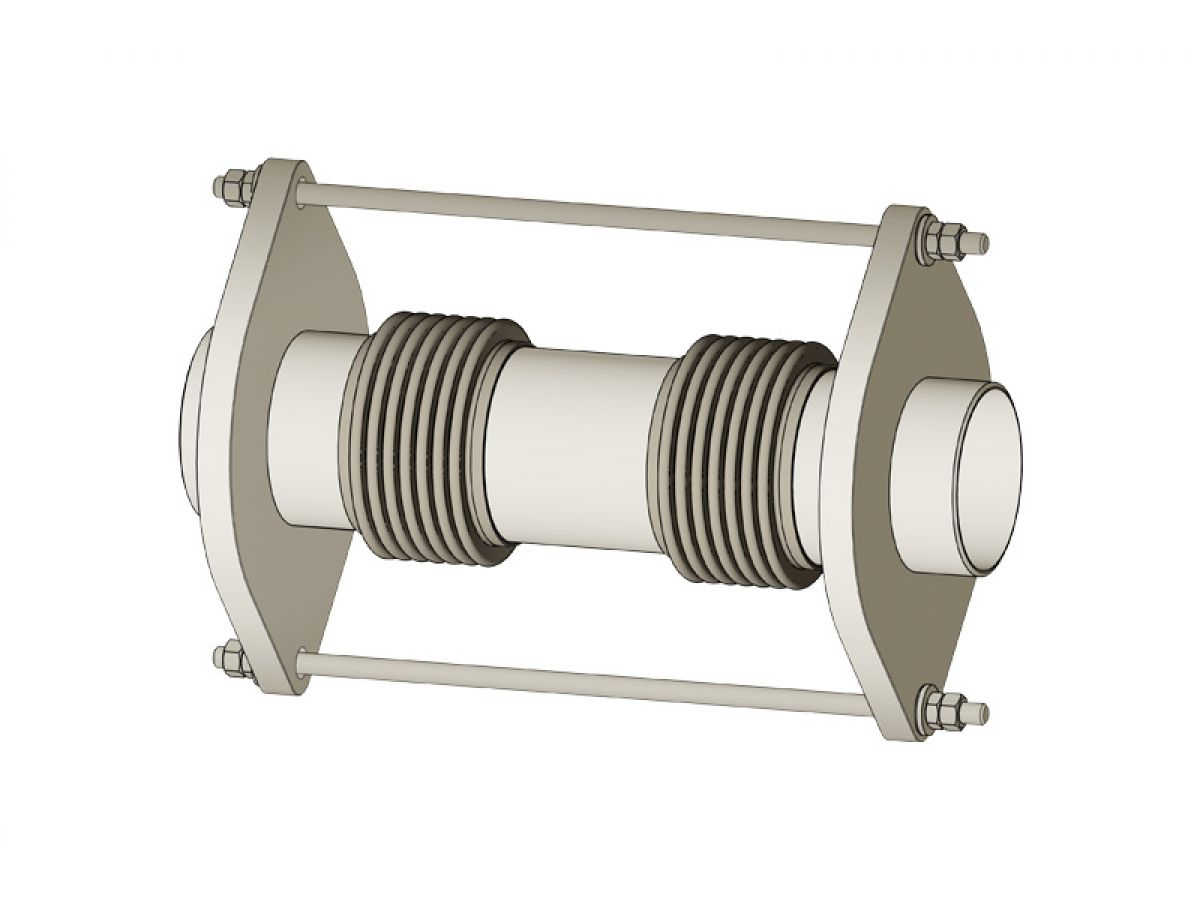 Universal restrained metal expansion joints welding ends
