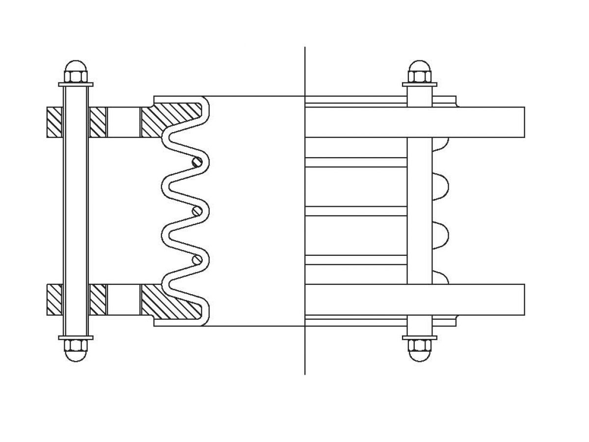 Ptfe expansion joint convolutions