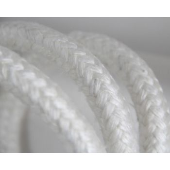 High Temp Braided Round Ropes - Fire Proof - Texturized High Silica Fiber