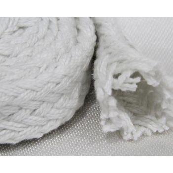 Ceramic Fiber Braided Woven Sleeves - With Fiberglass Filament Reinforcement