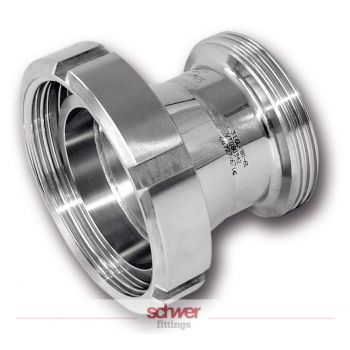 Aseptic Stainless reducer - conical - round thread - DIN 11851