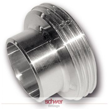 Aseptic threaded ferrule - DIN 11851