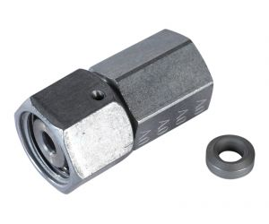 Gauge coupling straight with nut