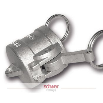 Camlock coupler with end cap - stainless - type DC
