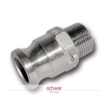 Camlock coupler - male with male thread - stainless - type F