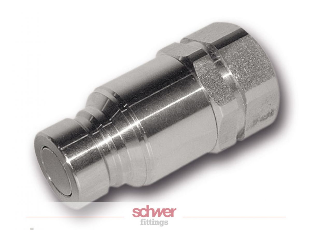 Stainless high pressure coupling plug male