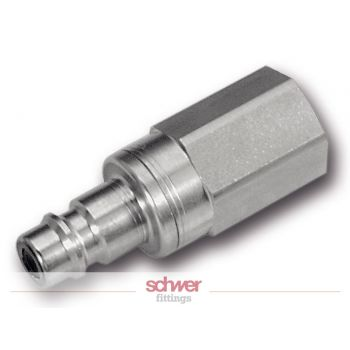 Stainless Low Pressure Quick Release Coupling: Plug - male