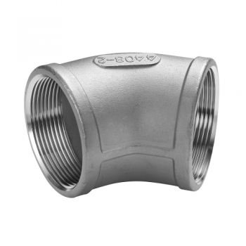 Stainless threaded elbow 45° - BSP ISO 228