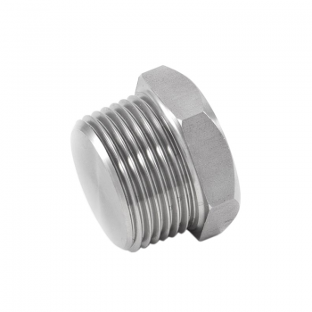 Stainless hexagon plug, conical thread - PN50 - 100