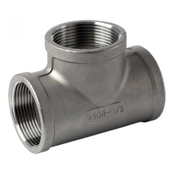 Stainless threaded tee - ISO4144