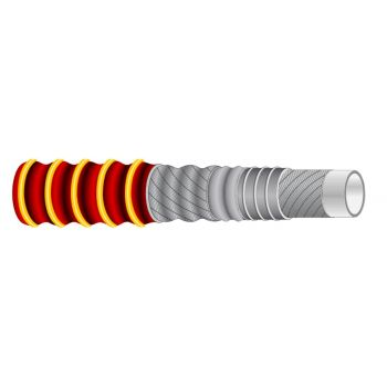 SD Corrugated hose - Tuscany - for non fatty foods, vintage wines and alcohols at 96° - +120°C