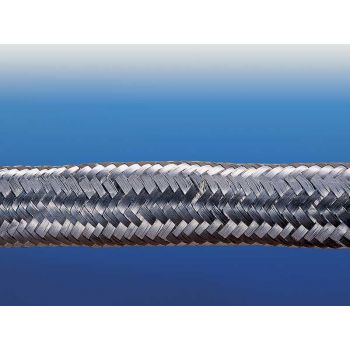 Glass packing with stainless braiding