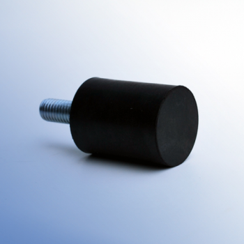 Cylindrical antivibration mounts - type D - Male - Foot