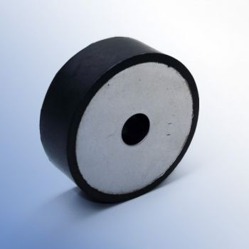 Circular Anti-vibration Mount - with Single Steel Plate