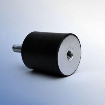 Cylindrical antivibration mounts - type B - Male-Female
