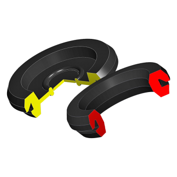 Space-saving rubber cable bushing - with or without a membrane
