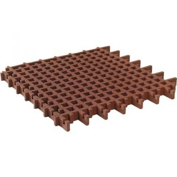 Safety mat lawn grid 100x100x4,5 cm red