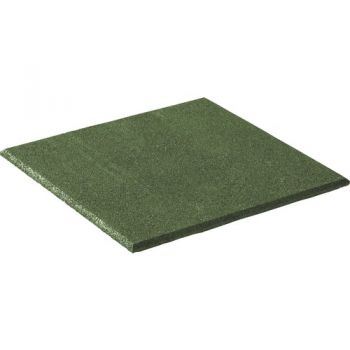 Fall protection rubber tiles 50x50x2,5 cm green