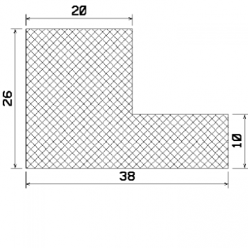 L-profile from rubber MZS - 25332 1B