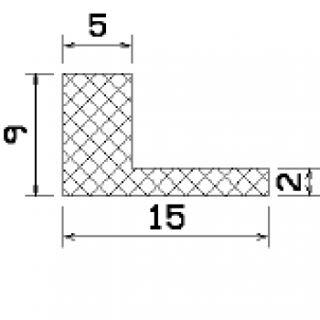 L-profile from rubber MZS - 25637 1B