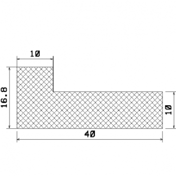 L-profile from rubber MZS - 25148