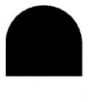 Semiround silicone profiles