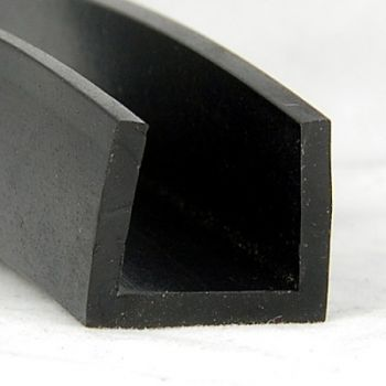 "Rubber profiles with rectangular ""U"" section"