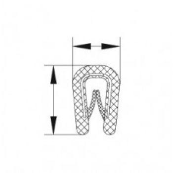 Edge Trim Profile with TR 2177 Square U Channel
