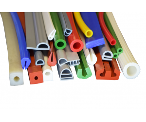 Extruded silicone profiles