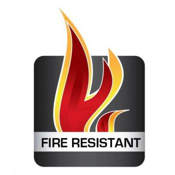 Fire retardant silicone profile