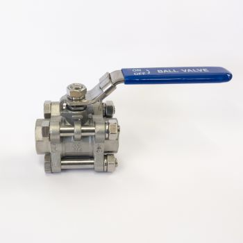 Stainless Ball Valve - 3 pieces - threaded