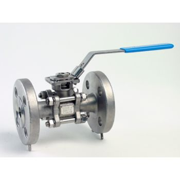 Stainless Ball Valve - 3 pieces - flanged