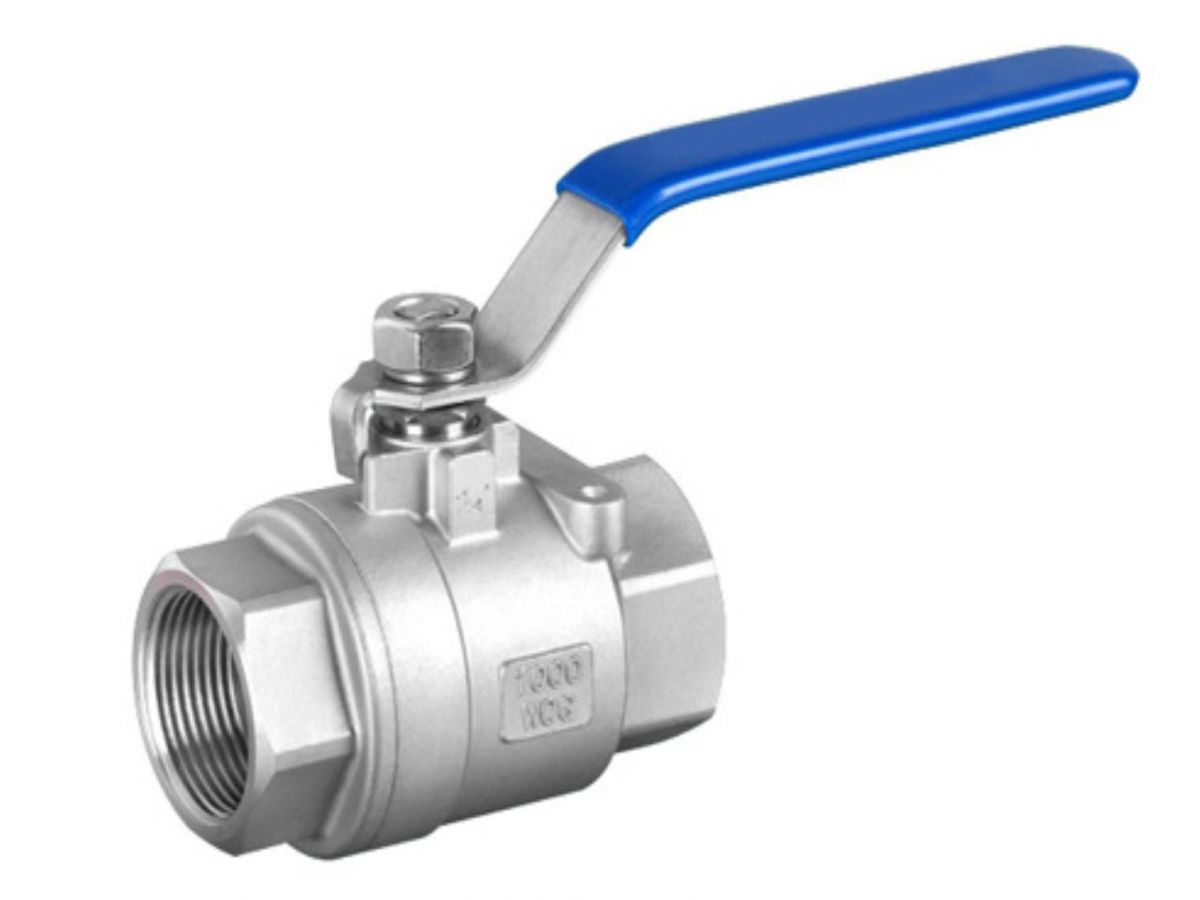 Stainless ball valve two piece body threaded