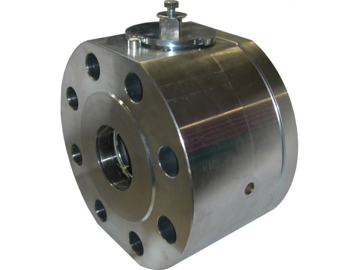 High pressure flanged ball valve wafer type
