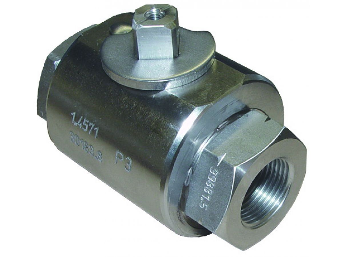 High pressure ball valve block type threaded