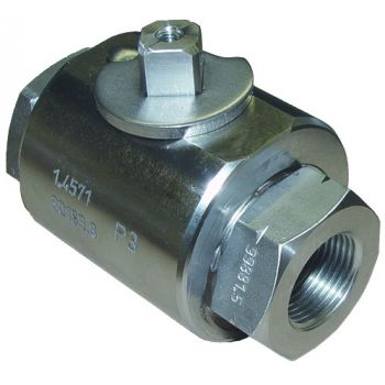 High pressure ball valve - round, NPT threaded