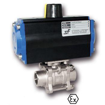 Ball valve with Actuator, Pneumatic, Welding ends