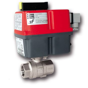 Actuated ball valve - 2 pcs - threaded - single acting - 24V