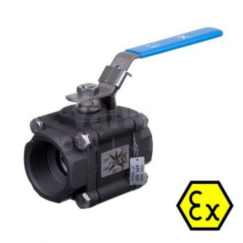 Ball Valve Series 83 Fire Safe Anti Static Carbon Steel - BSP or NPT threaded