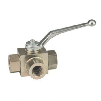 High Pressure Ball Valve - 3 Way - Hydraulic - Carbon Steel - L Port - BK3