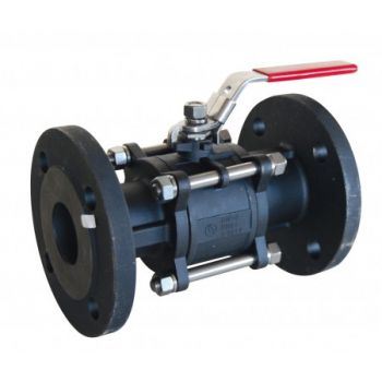 Carbon Steel Ball Valve - 3 piece body - Flanged