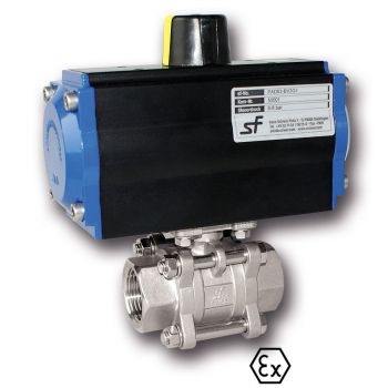 Ball valve with Actuator, Pneumatic, Double acting
